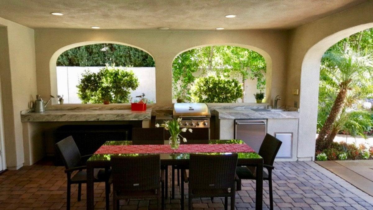 Valley Glen Back Porch with Outdoor Kitchen