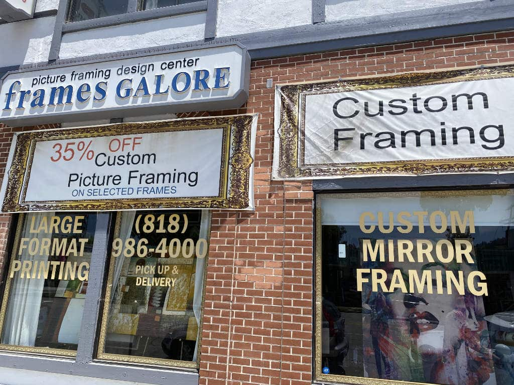 Frames Galore Store Front