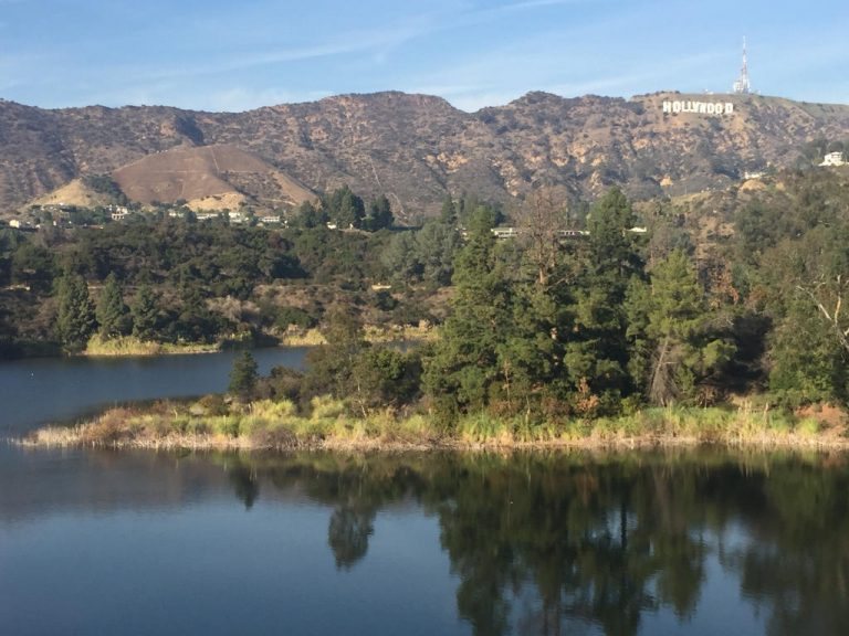 Lake Hollywood with Hollywood Sign 2