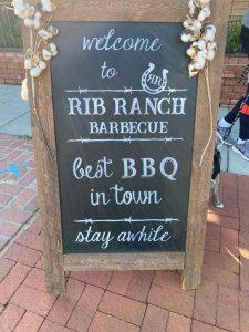 Rib Ranch BBQ Sign