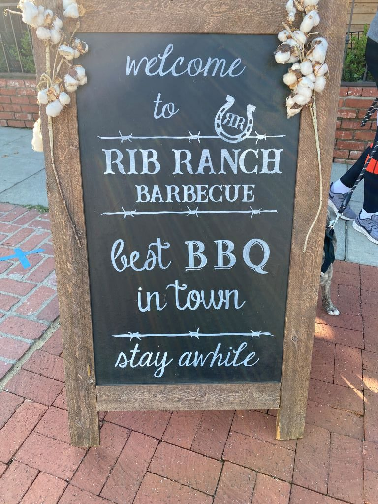 Rib Ranch BBQ Sign