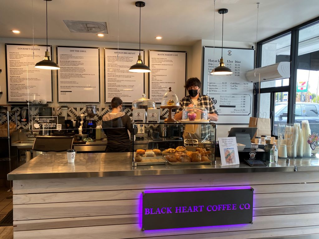 Black Heart Coffee Co-inside counter