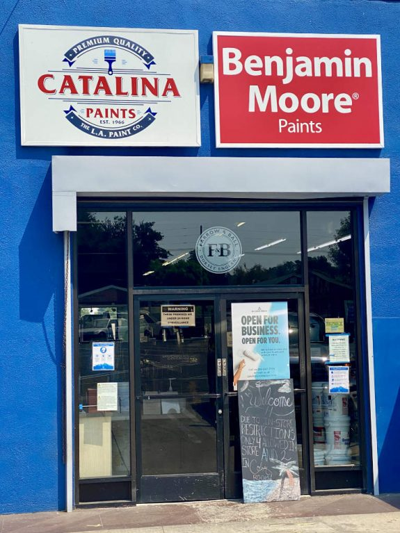 Catalina and Benjamin Moore Paints Store Entrance