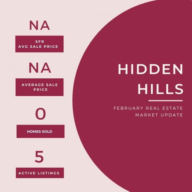 February Real Estate Update Hidden Hills